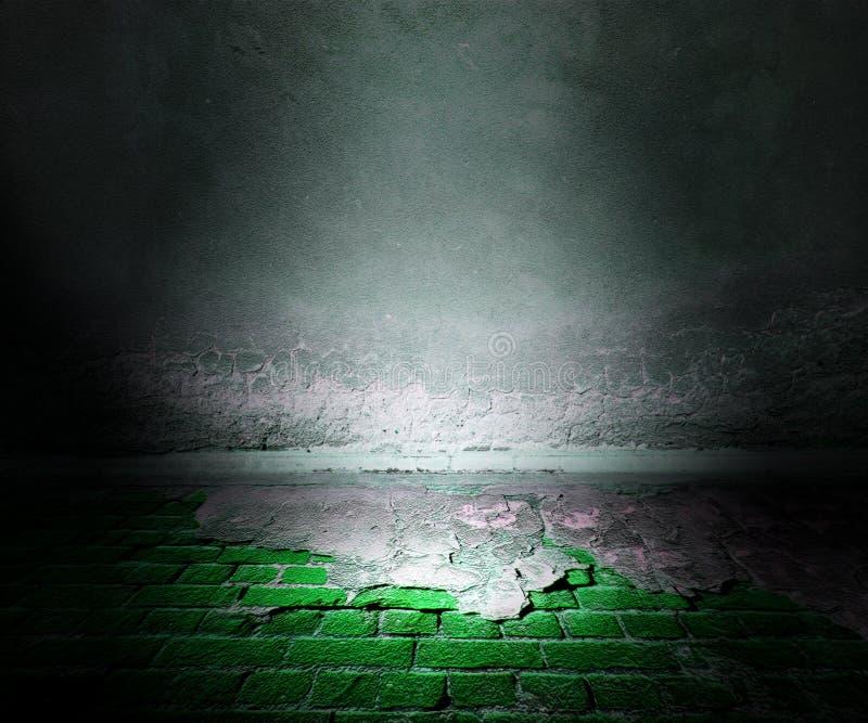 Bakgrund för Grungeetappgräsplan arkivfoton