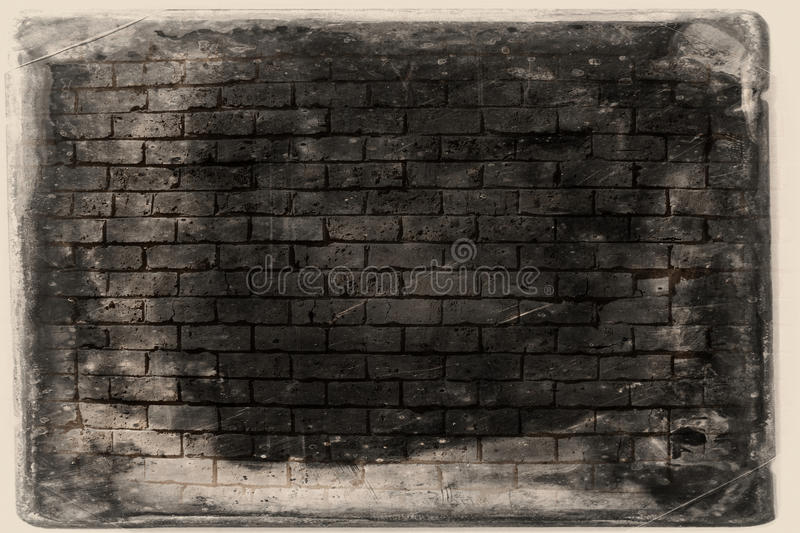 Bakgrund för Grungetegelstenvägg arkivbild