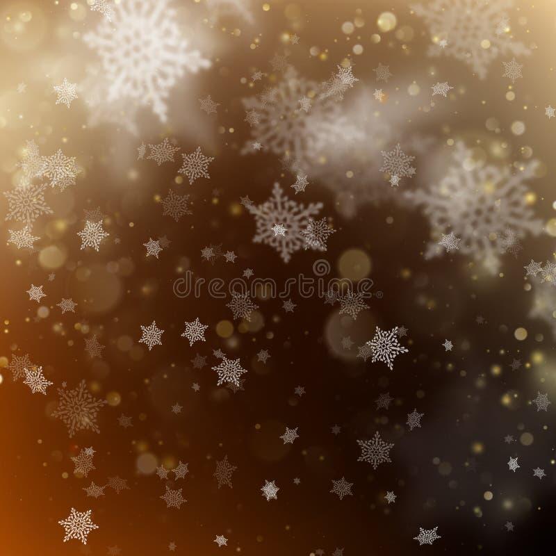 Bakgrund för guld- ferie för jul glödande Vektor för EPS 10 vektor illustrationer