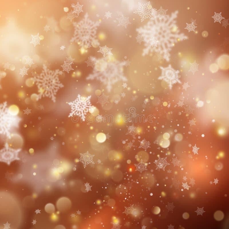 Bakgrund för guld- ferie för jul glödande Vektor för EPS 10 stock illustrationer
