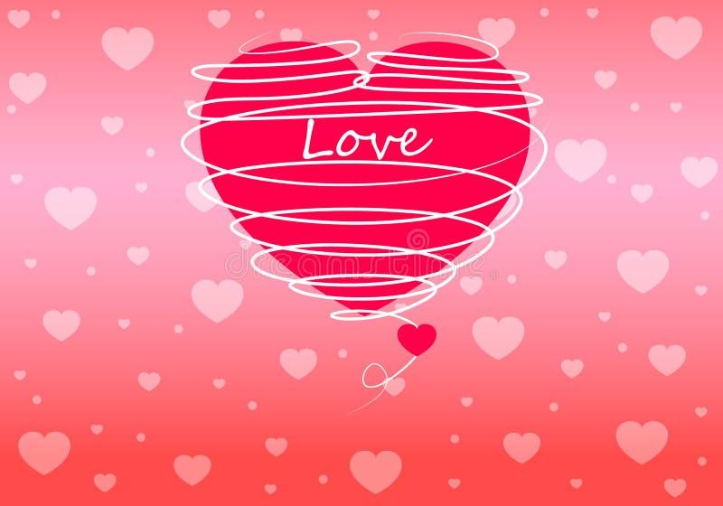 Bakgrund för hjärtaformvektor stock illustrationer