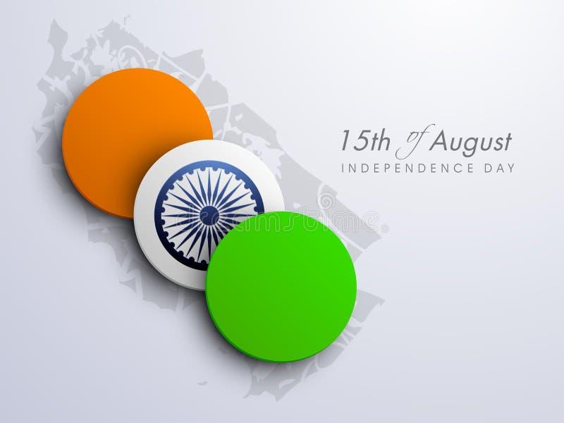 Bakgrund för indierIndepndence dag royaltyfri illustrationer
