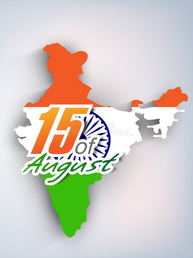 Bakgrund för indierIndpendence dag royaltyfri illustrationer