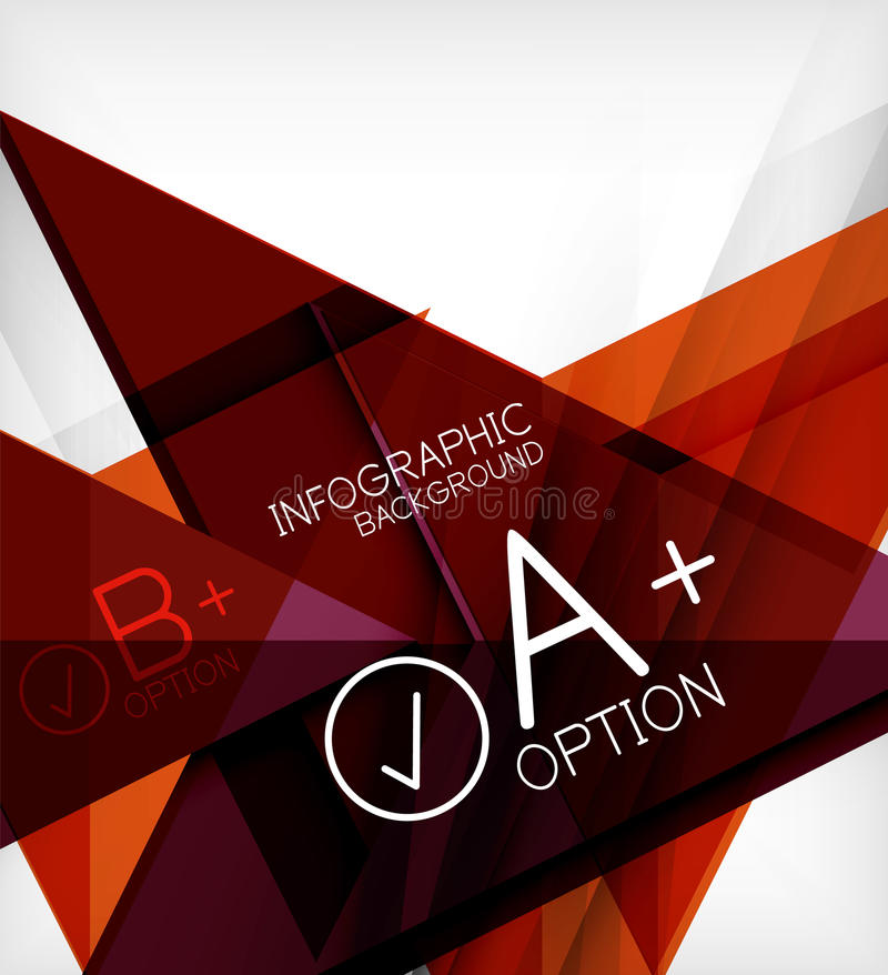 Bakgrund för Infographic geometrisk formabstrakt begrepp royaltyfri illustrationer