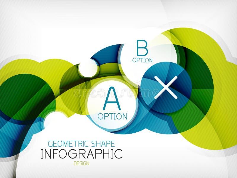 Bakgrund för information om form för glansig cirkel geometrisk vektor illustrationer
