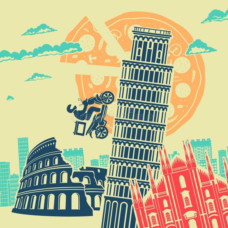 Bakgrund för Italien dragningsvektor arkivbild