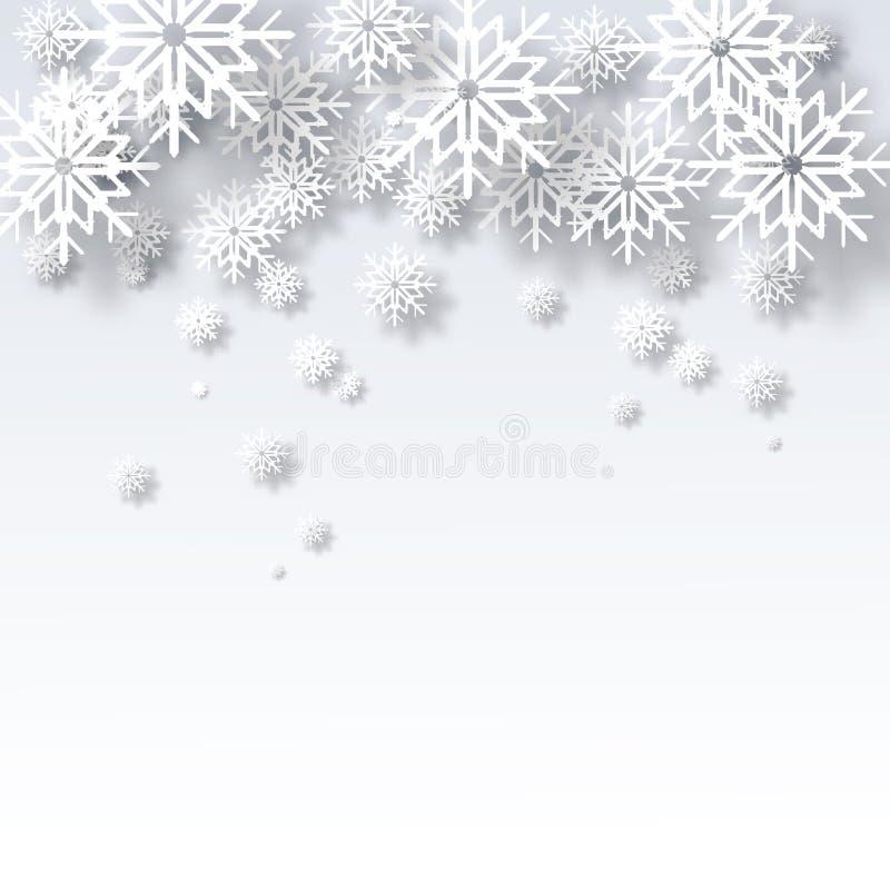 Bakgrund för jul för vektorillustrationabstrakt begrepp stock illustrationer