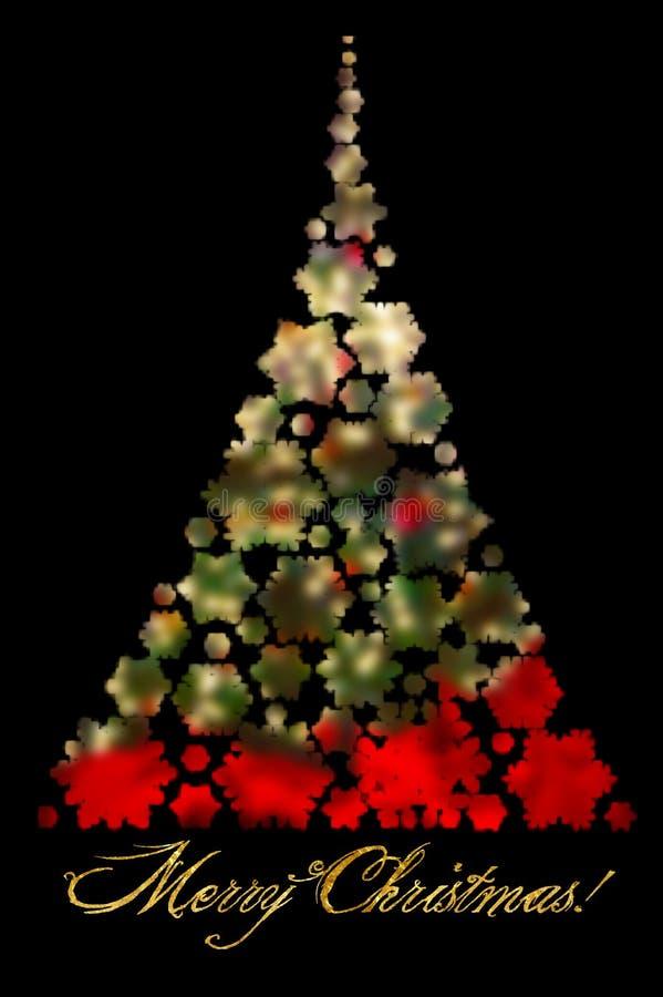 Bakgrund för julabstrakt begreppsuddighet med dekorerad och tänd Kristus royaltyfria foton