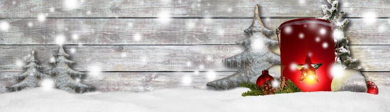 Bakgrund för julbanerpanorama royaltyfria bilder