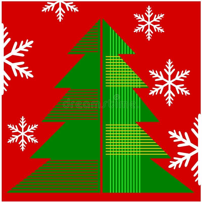Bakgrund för julgrangarneringillustrationer vektor illustrationer