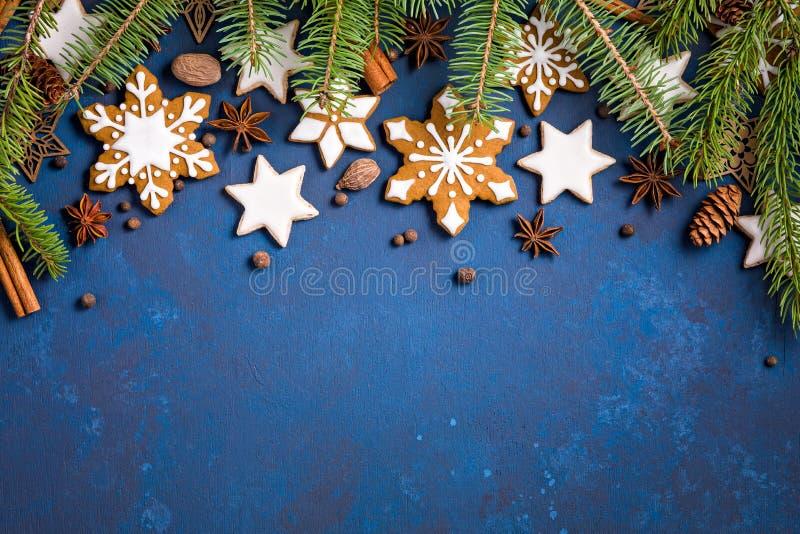 Bakgrund för julkakagräns arkivbild