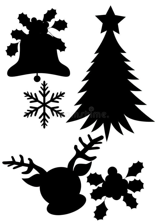 Bakgrund för julkonturillustrationer royaltyfri illustrationer