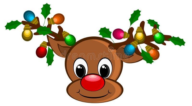 Bakgrund för julrenillustrationer royaltyfri illustrationer