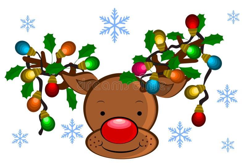Bakgrund för julrenillustrationer vektor illustrationer