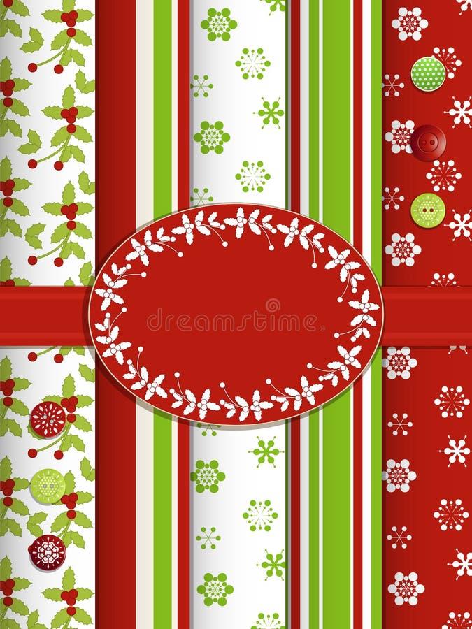 Bakgrund för julrestbok med kanten vektor illustrationer
