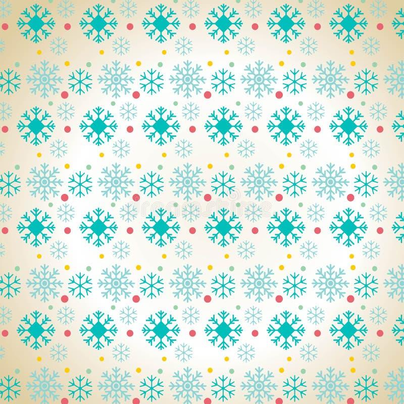 Bakgrund för julsnöflingamodell stock illustrationer