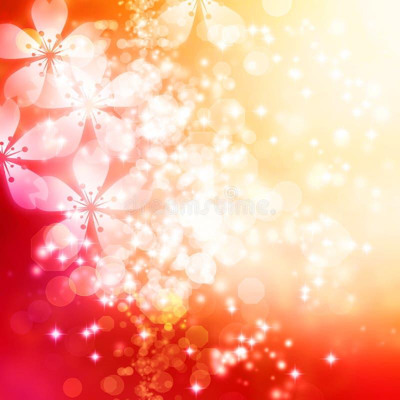 Bakgrund för körsbärsröda blomningar stock illustrationer