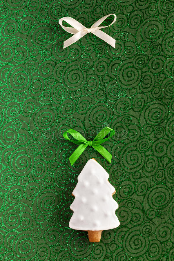 Bakgrund för kaka för julgrantree royaltyfri bild