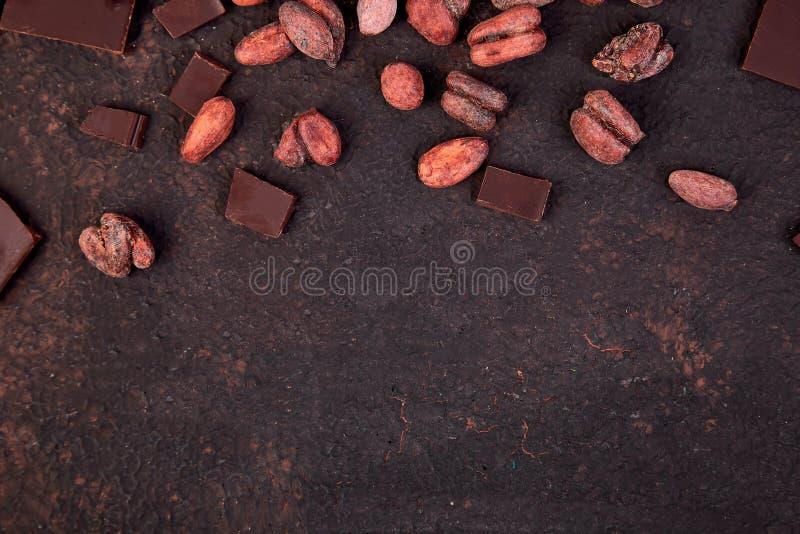 Bakgrund för kakaobönor royaltyfri foto