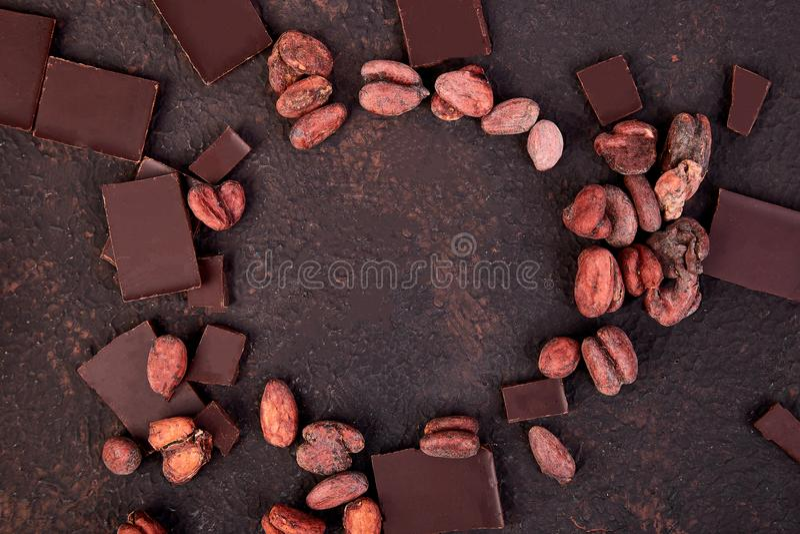 Bakgrund för kakaobönor fotografering för bildbyråer