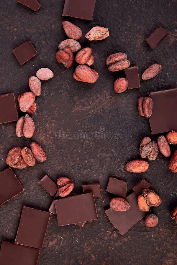 Bakgrund för kakaobönor royaltyfri bild