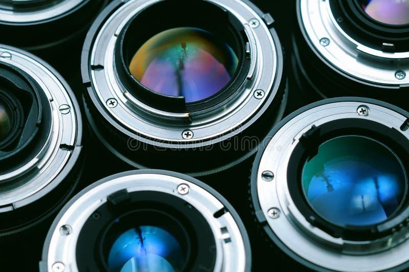 Bakgrund för kameralinser royaltyfri bild