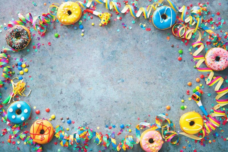 Bakgrund för karneval- eller födelsedagspartier fotografering för bildbyråer