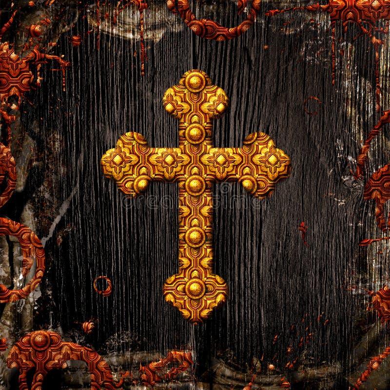 Bakgrund för keltiskt kors vektor illustrationer