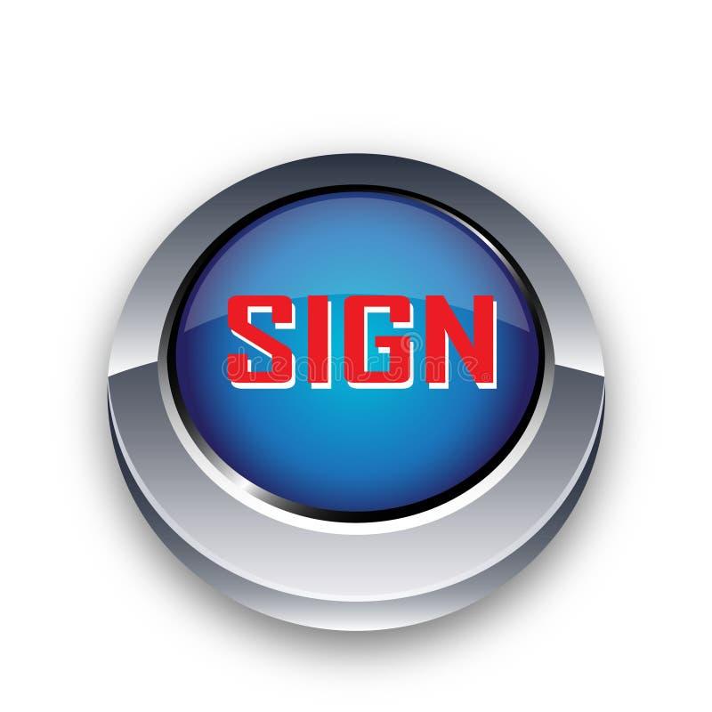 Bakgrund för klassisk blå knapp för teckenrengöringsdukknapp vit stock illustrationer