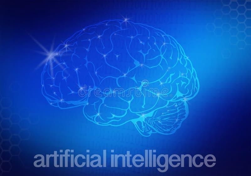 Bakgrund för konstgjord intelligens royaltyfri illustrationer