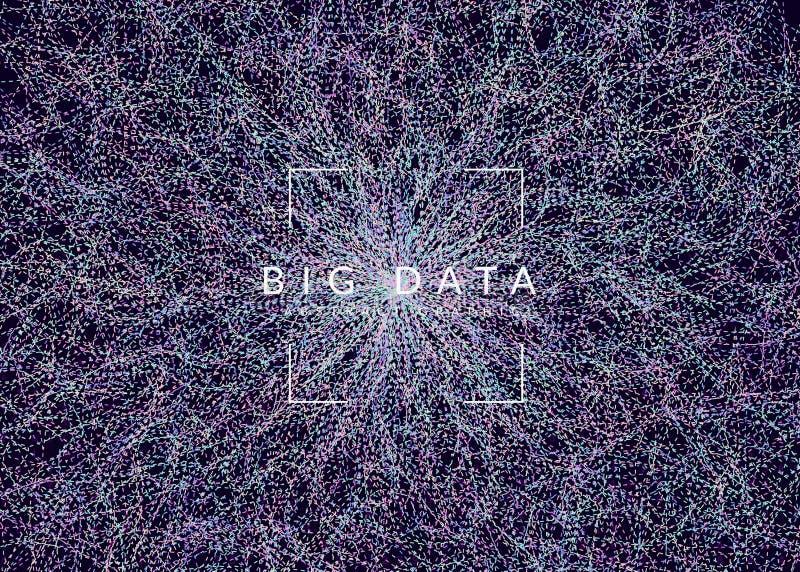 Bakgrund för konstgjord intelligens Teknologi för stora data, kraft stock illustrationer