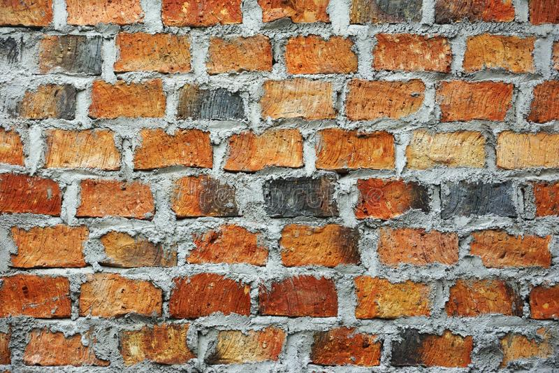 Bakgrund för konstruktion för byggnad för vägg för hus för tegelstenstentextur arkivbilder