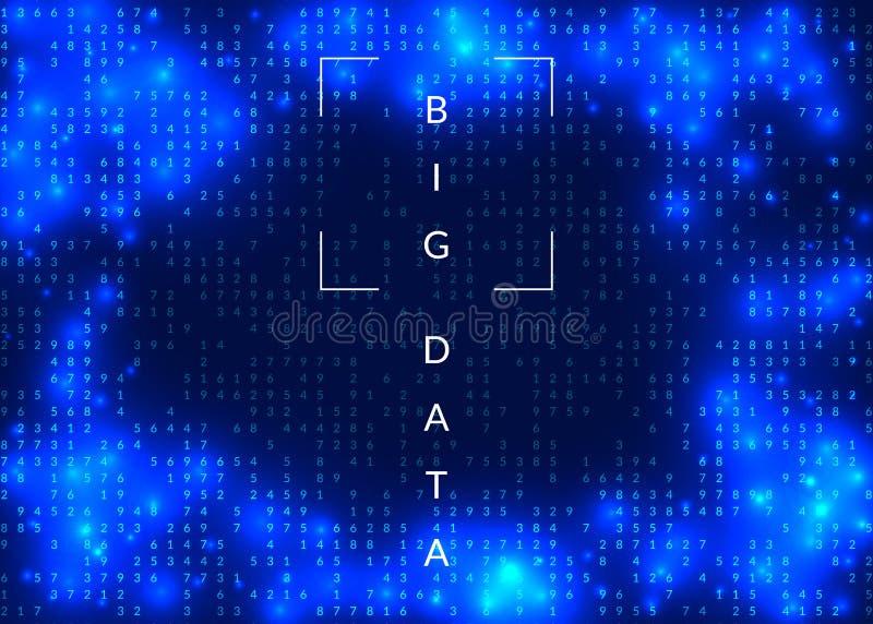 Bakgrund för kvantberäkning Teknologi för stora data, visualiza stock illustrationer