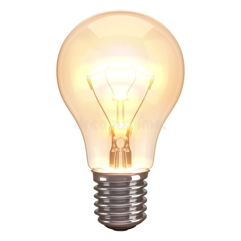 Bakgrund för lampbrännskadavit arkivfoto