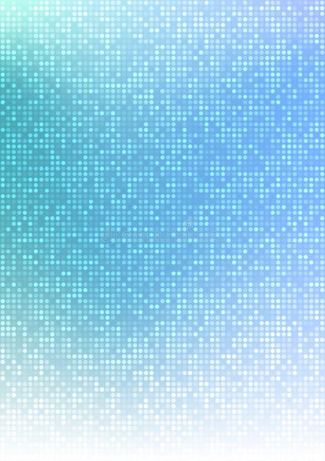Bakgrund för lutning för abstrakt blått PIXEL för vektorteknologicirkel digital, businessbluemodellPIXEL i det pappers- formatet  stock illustrationer