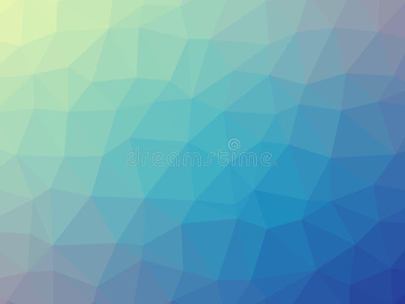 Bakgrund för lutning för blå gräsplan formad triangel stock illustrationer