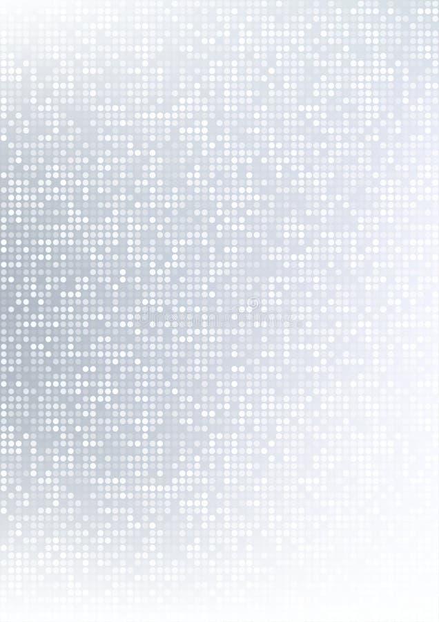 Bakgrund för lutningen för det abstrakta gråa PIXELet för vektorteknologicirkeln mönstrar digital, affärsgrå färg PIXEL i det pap vektor illustrationer