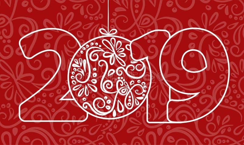 2018 bakgrund för lyckligt nytt år för dina säsongsbetonade themed inbjudningar för reklamblad och för för hälsningskort eller ju royaltyfri illustrationer