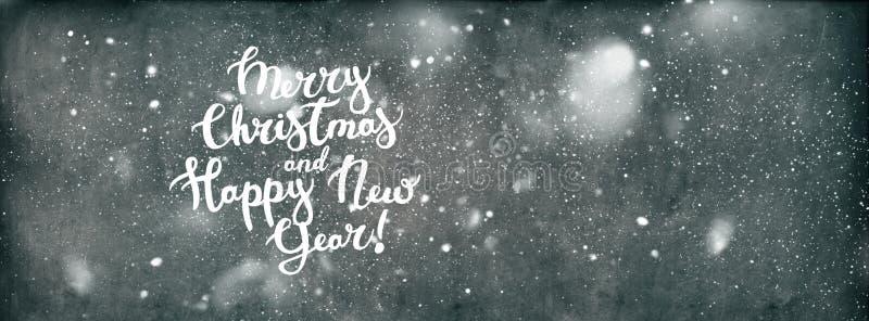 Bakgrund för lyckligt nytt år för glad jul för text stock illustrationer
