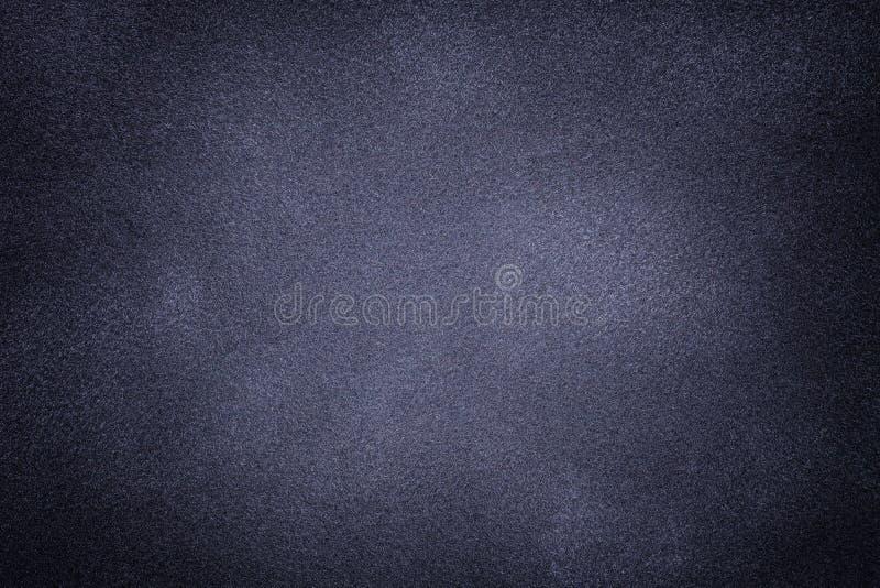 Bakgrund för mörkgrå och blå duksgardinsfolie Beredd matt textur av nubuck-textilier arkivbild