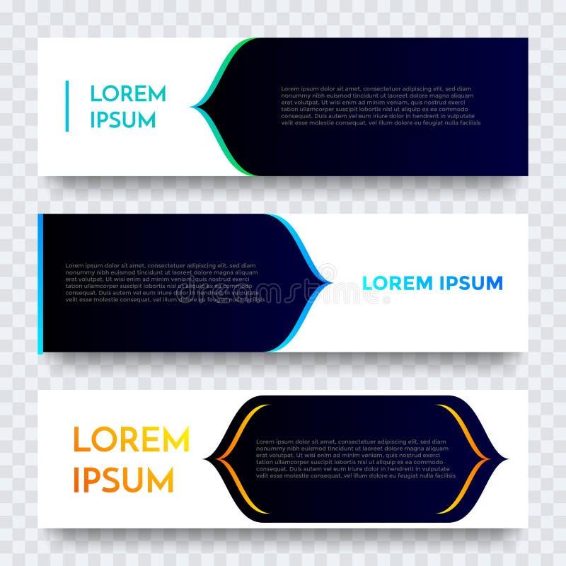 Bakgrund för mall för vektor för rengöringsdukbanerdesign Modern horisontalvit orientering royaltyfri illustrationer