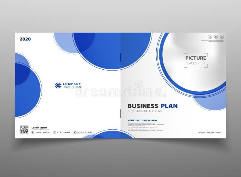Bakgrund för mall för reklamblad för broschyr för cirkel för abstrakt teknologilutning blå Du kan använda för affärspresentatione royaltyfri illustrationer