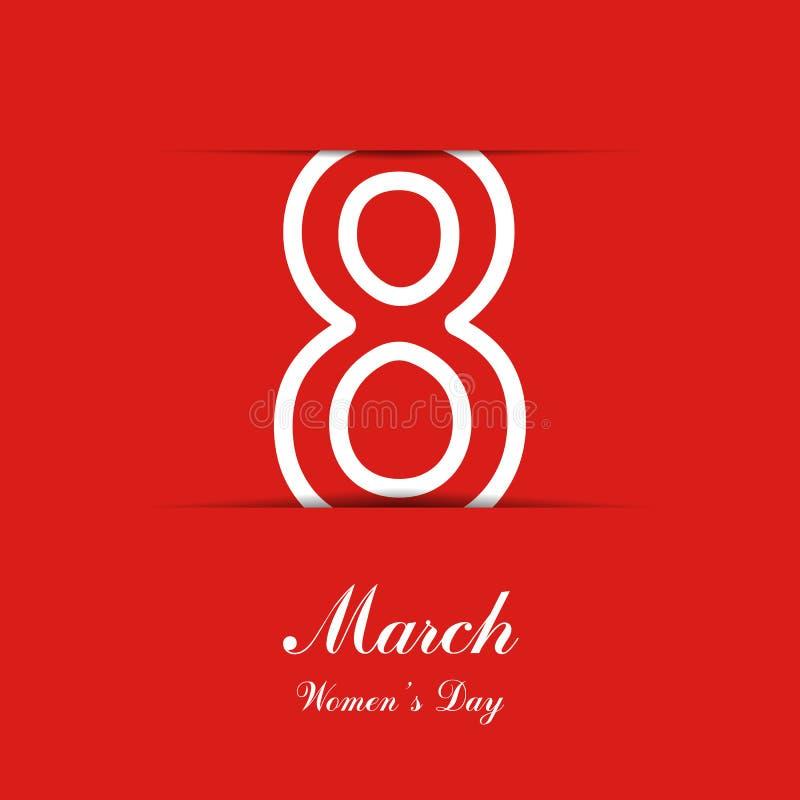 8 bakgrund för marsch Kvinnors dagbaner EPS10 också vektor för coreldrawillustration royaltyfri illustrationer