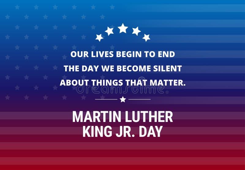 Bakgrund för Martin Luther King Jr Day ferievektor stock illustrationer