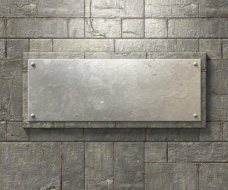 Bakgrund för metallplatta stock illustrationer