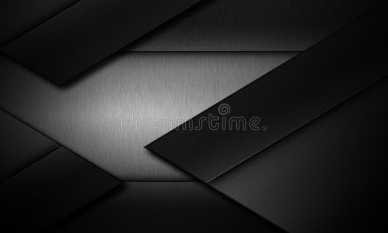 Bakgrund för metalltexturmörker vektor illustrationer