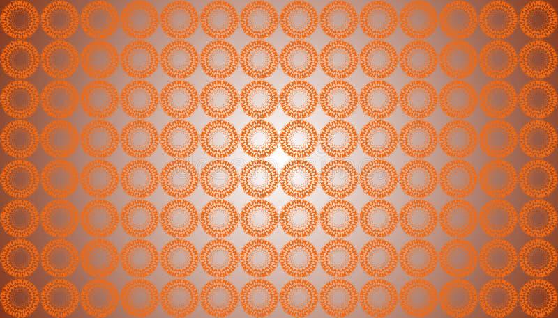 Bakgrund för modell för abstrakt färg för vektor orange blom- sömlös royaltyfri illustrationer