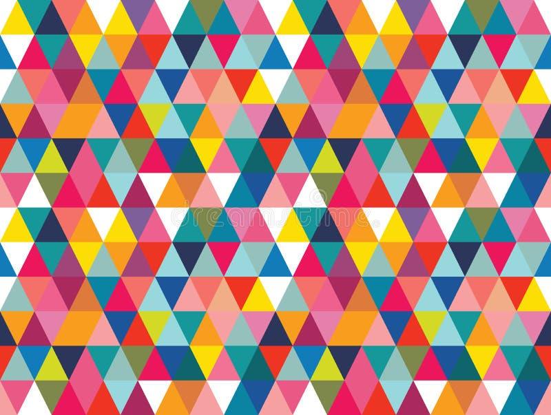 Bakgrund för modell för färgrika geometriska former för vektor sömlös vektor illustrationer