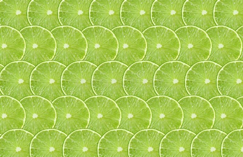 Bakgrund för modell för abstrakt begrepp för limefruktfruktskiva sömlös stock illustrationer
