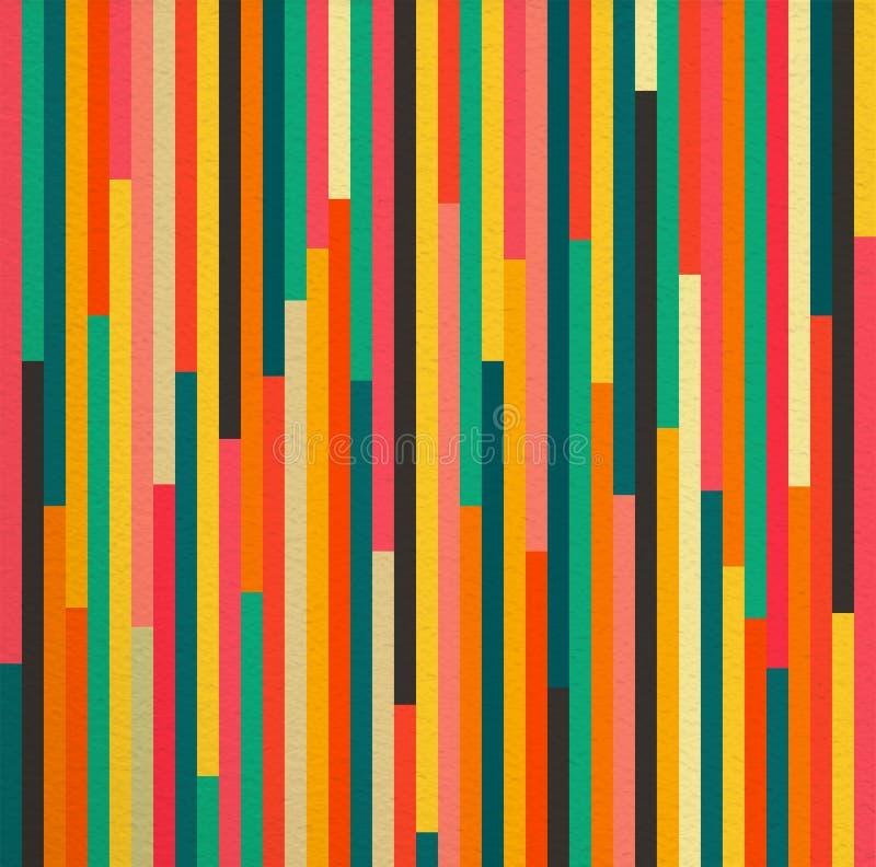 Bakgrund för modell för abstrakt färgtappning retro sömlös stock illustrationer